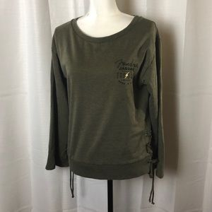 Lucky Brand Fender Lace Up Pullover Sweatshirt
